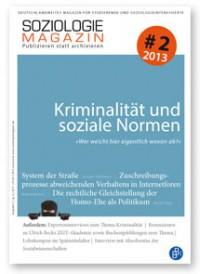 Soziologiemagazin #2.2013 Kriminalität und soziale Normen COVER